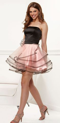 Vestidos de fiesta rosa y negro