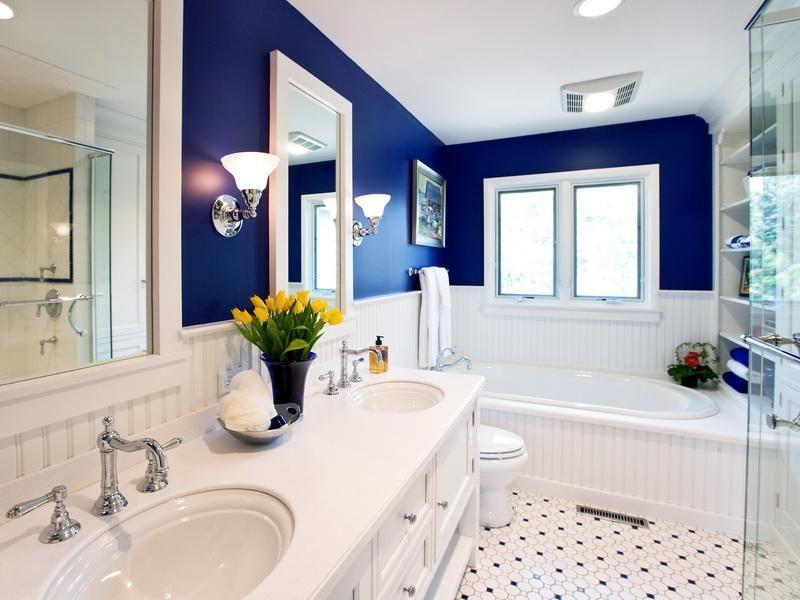 Master Bathroom Ideas Bookshelves Master Bath Decorating Ideas - Navy blue bath accessories for small bathroom ideas
