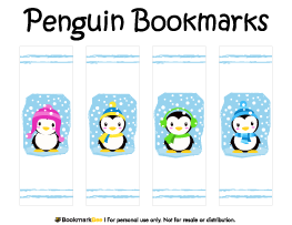Penguin Bookmarks  Book Markers    Bookmarks Penguins