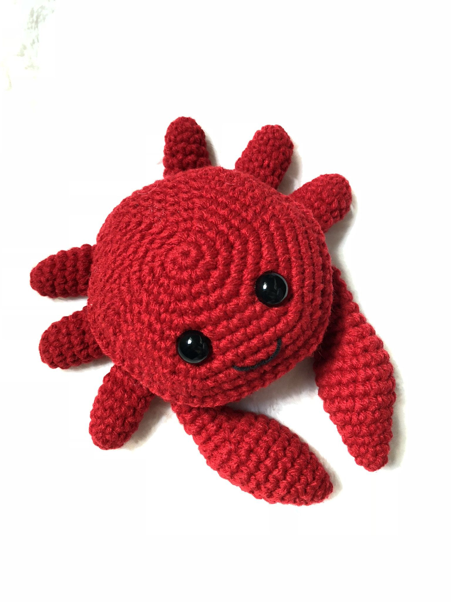 Crochet crab pattern, Patron para tejer un cangrejo, Crab digital ...