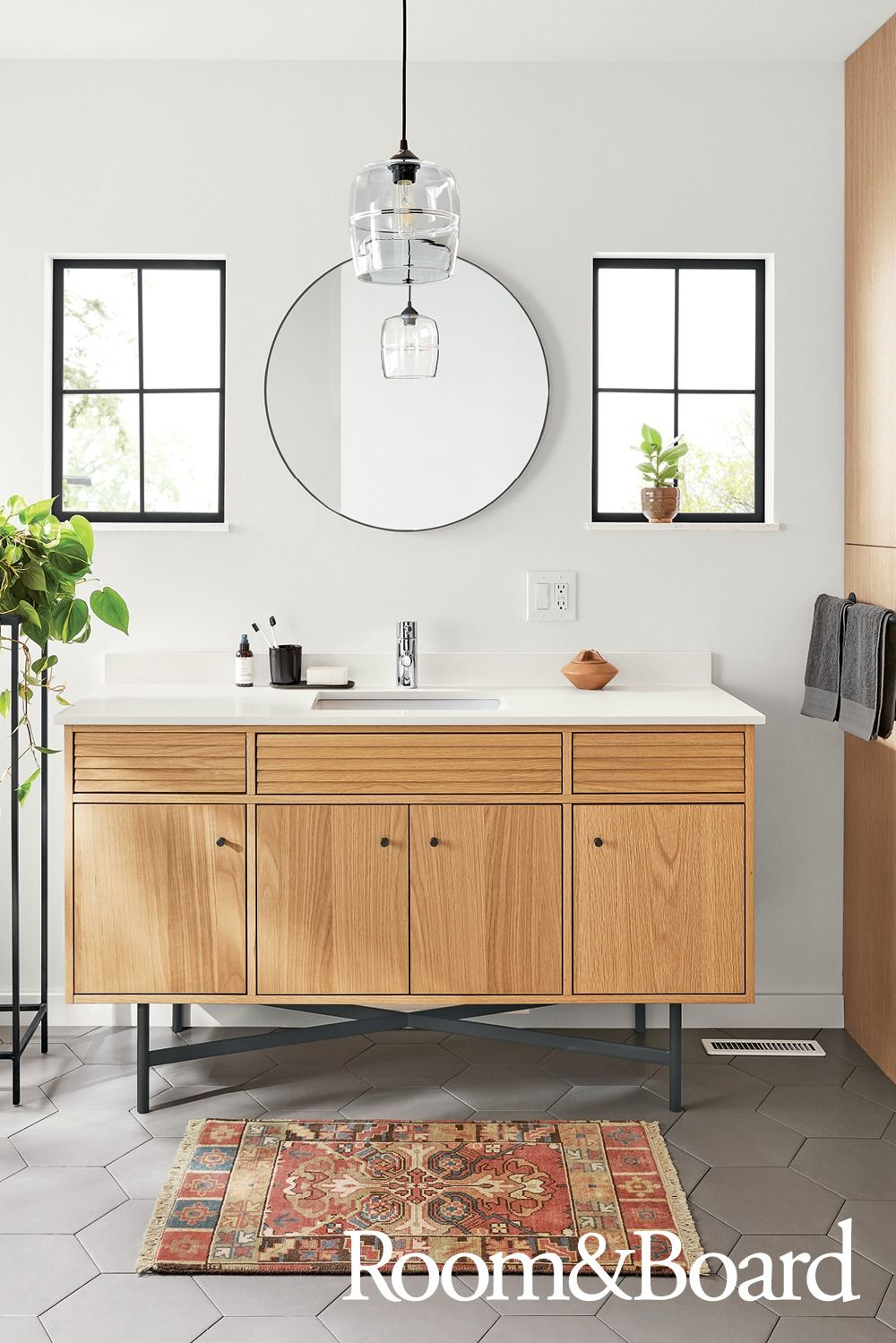 Our bath collection showcases the signature modern look and