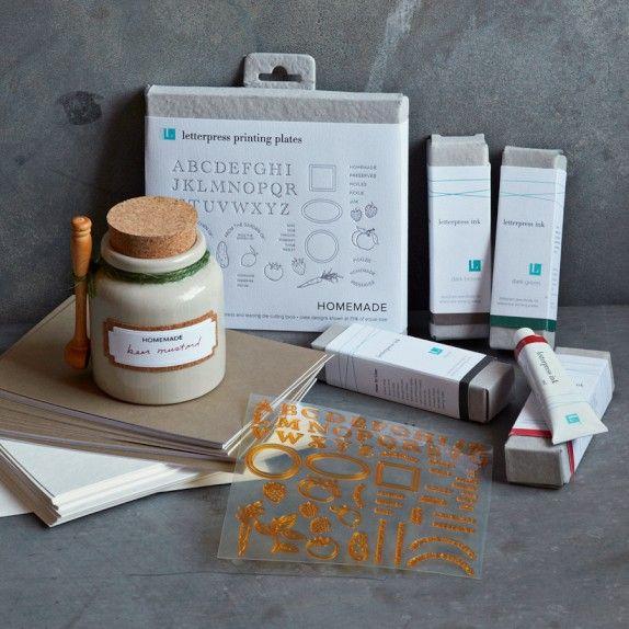 New Lifestylecrafts Letterpress Printing Plates At Williams Sonoma