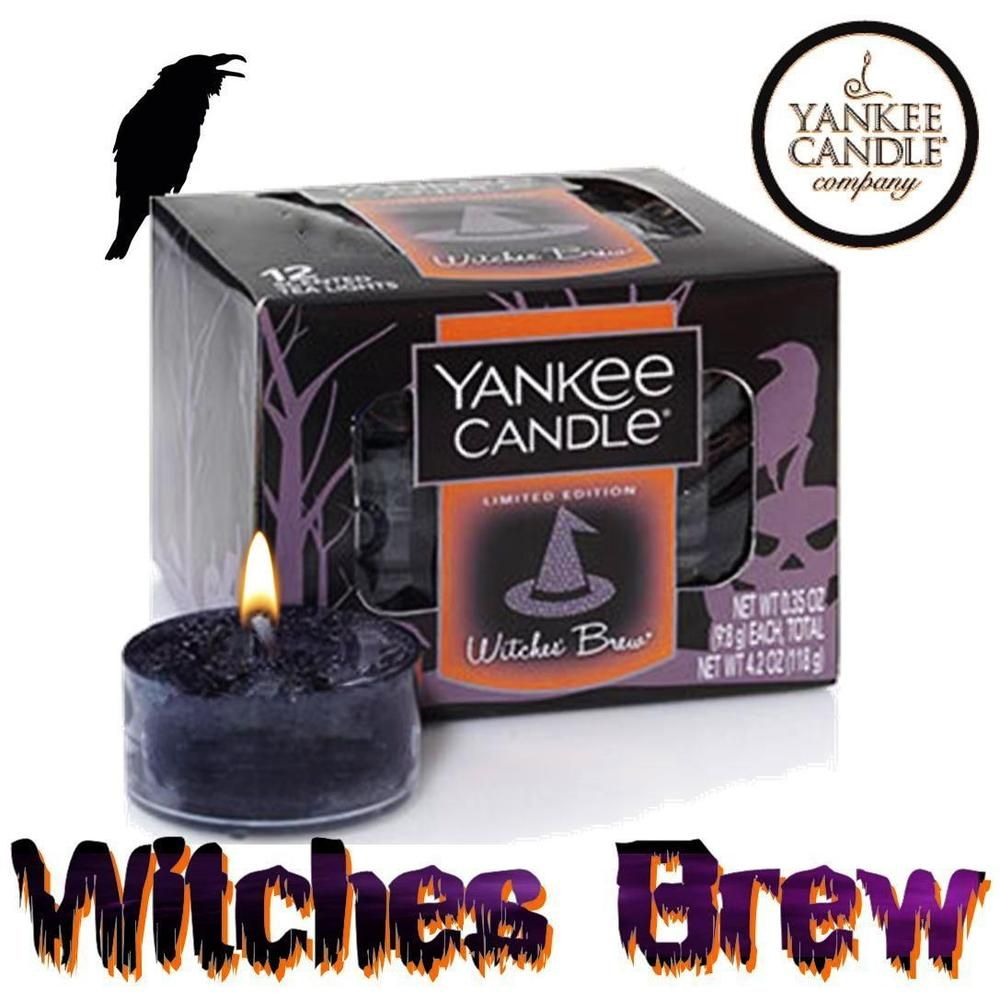 Yankee candle witches brew tea light candles per box brand new