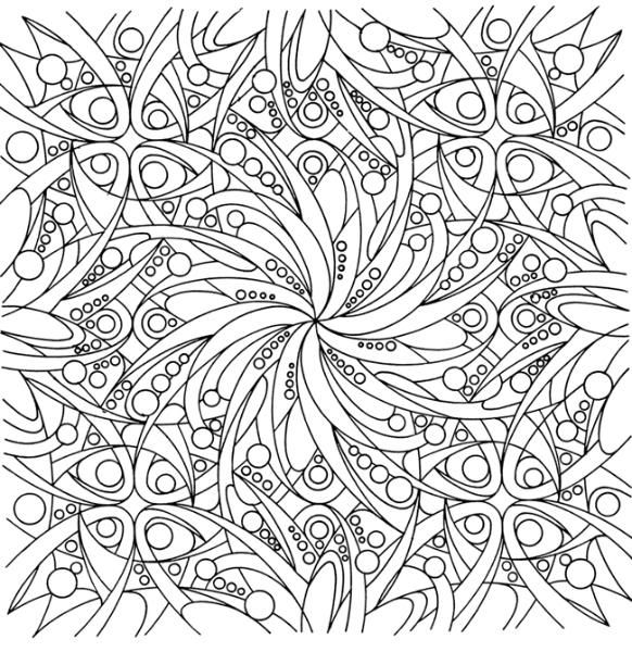 Image Detail For Printable Paint By Number Abstract Coloring Pages Mandala Coloring Pages Flower Coloring Pages