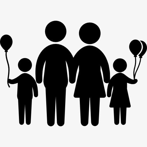 Silhouette Family Family Cartoon Characters Silhouette Png And Vector With Transparent Background For Free Download Siluet Buku Manusia