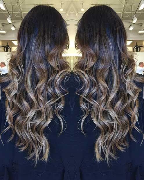 47 Stunning Blonde Highlights For Dark Hair Dark Hair With