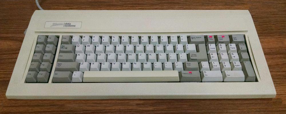 Vintage Zenith Mechanical Keyboard 100 1860 Red Lights Sounds Green Alps Keyboard Light Red Computer Equipment