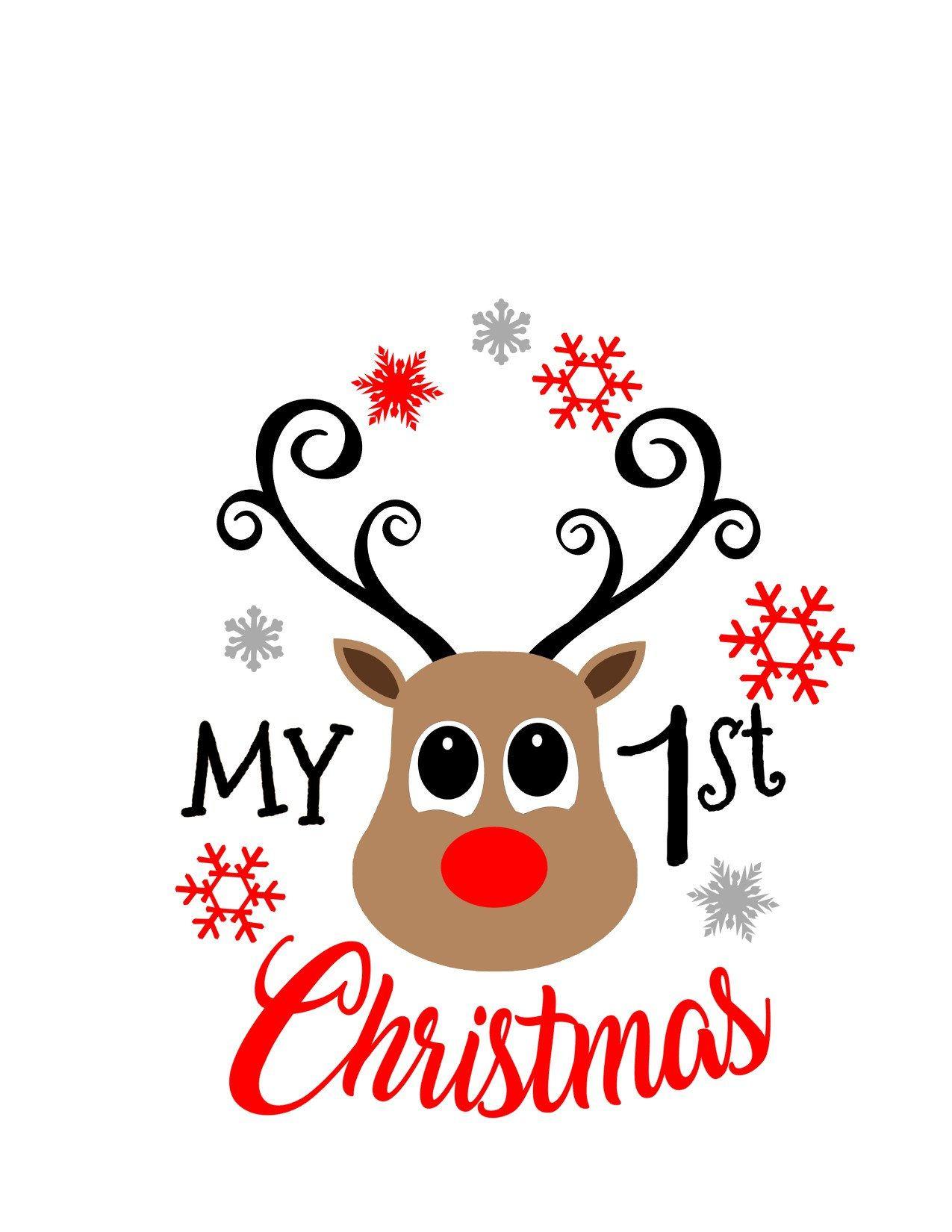 First christmas svg, christmas svg, reindeer svg, svg