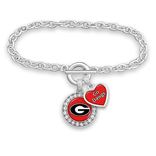 Sports Team Accessories Mississippi State Bulldogs Logo and a Heart Shaped Charm Necklace Featuring Team Slogan