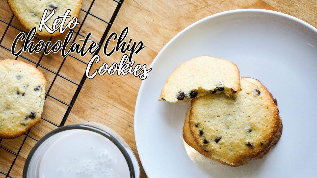 Keto Chocolate Chip Cookies   Low Carb Cookies Recipe