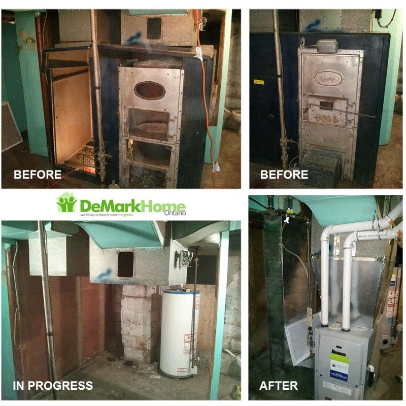 HVAC Before & After Gallery High efficiency furnace
