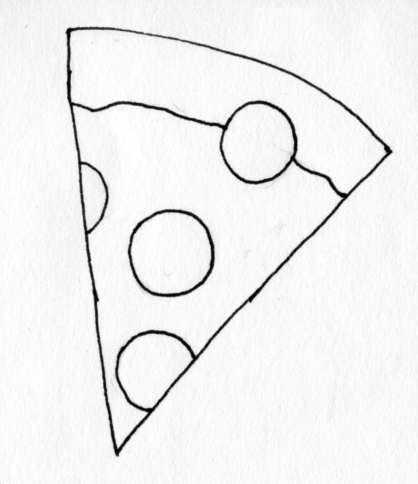 Coloring Page Pizza Slice By Blackcatstitchcrafts On Etsy