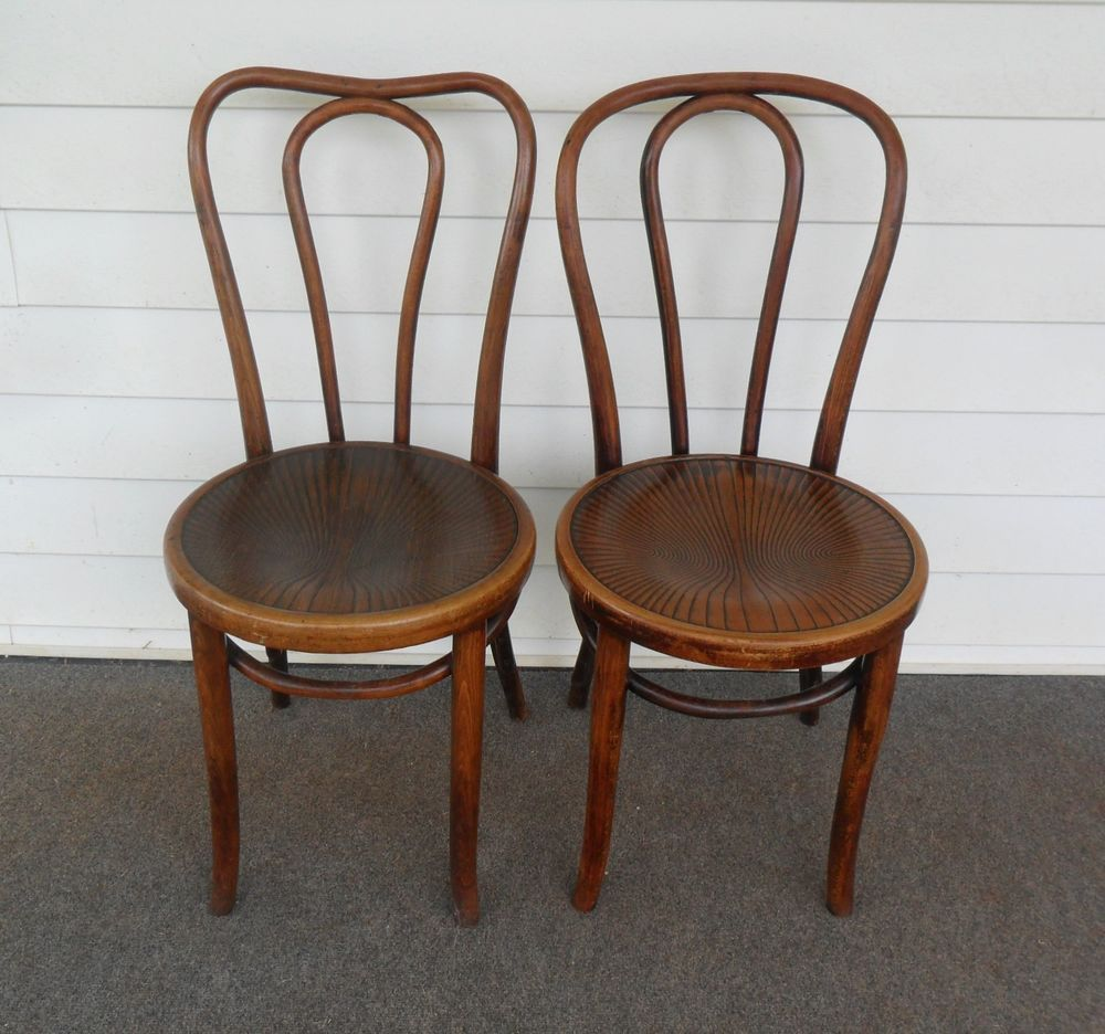 Vintage Antique (2 Bentwood Chairs--Ice Cream Parlor ...