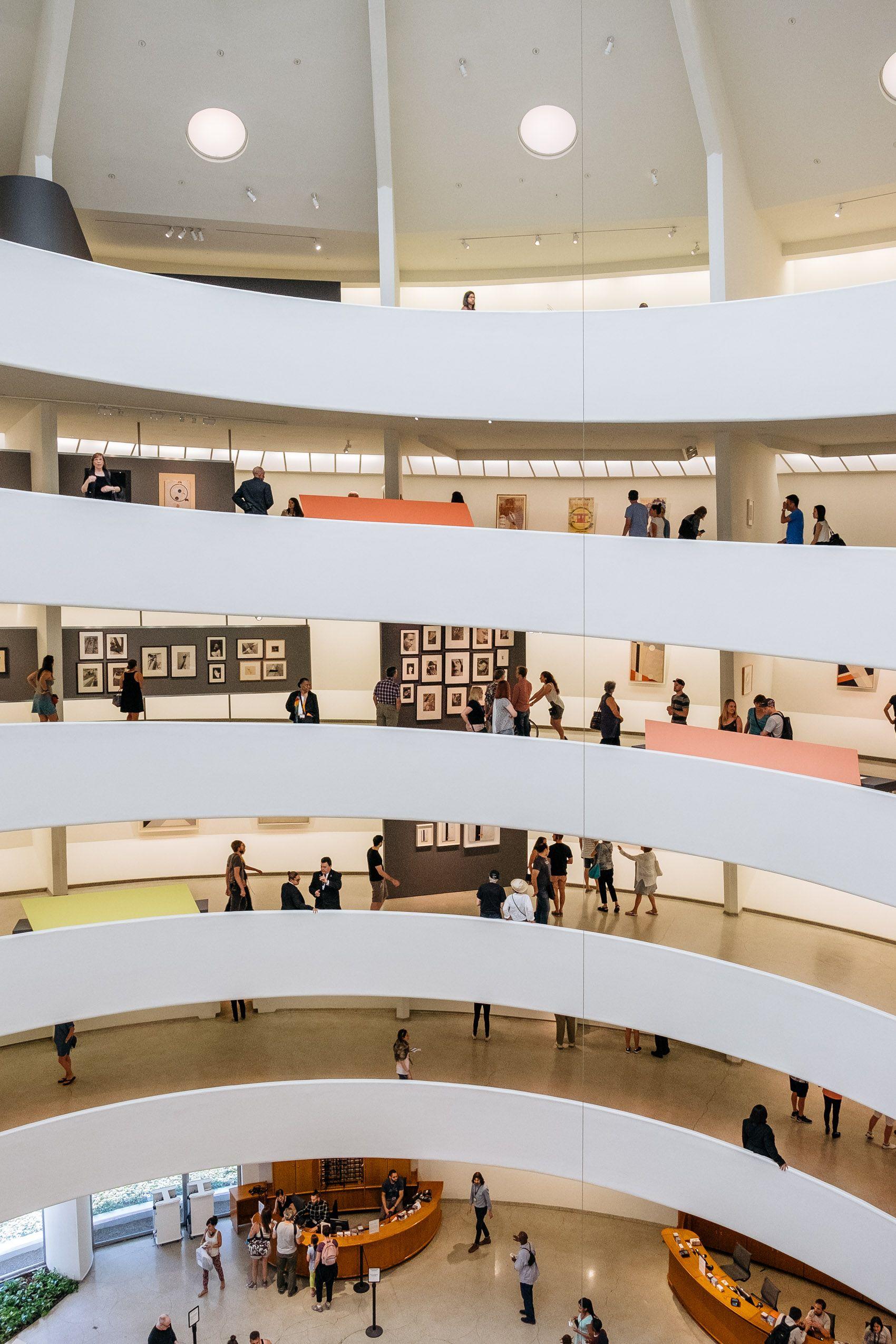 The Guggenheim Museum Interior In New York
