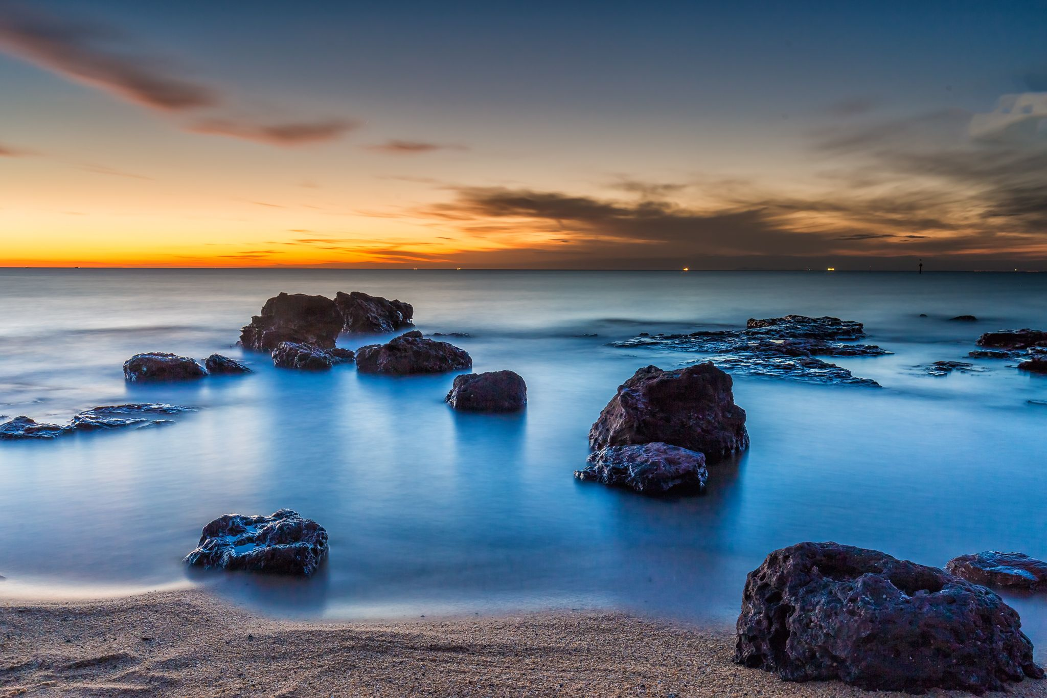 Sunset Black Rock Beach Melbourne Seascape Photography Sunrise Sunset Landscape