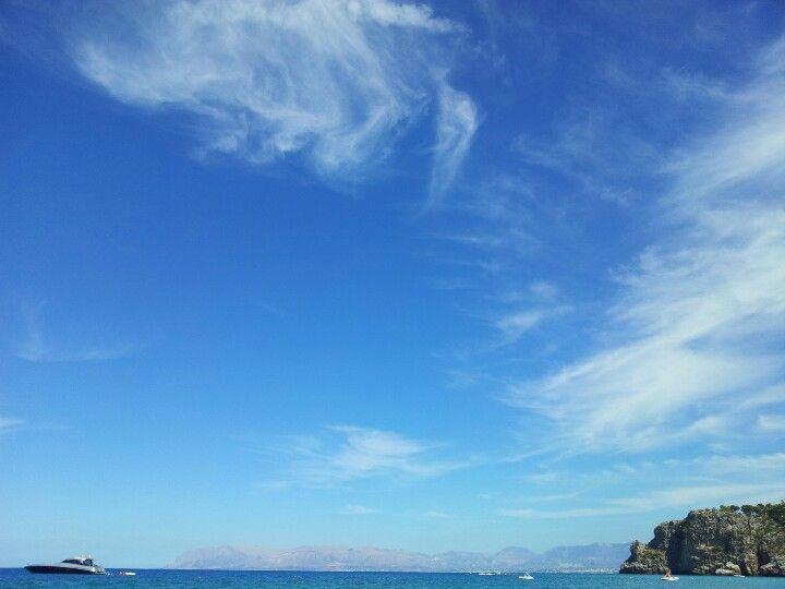 Nuvole sulle isole Egadi. Scopello 2012. Sicilia