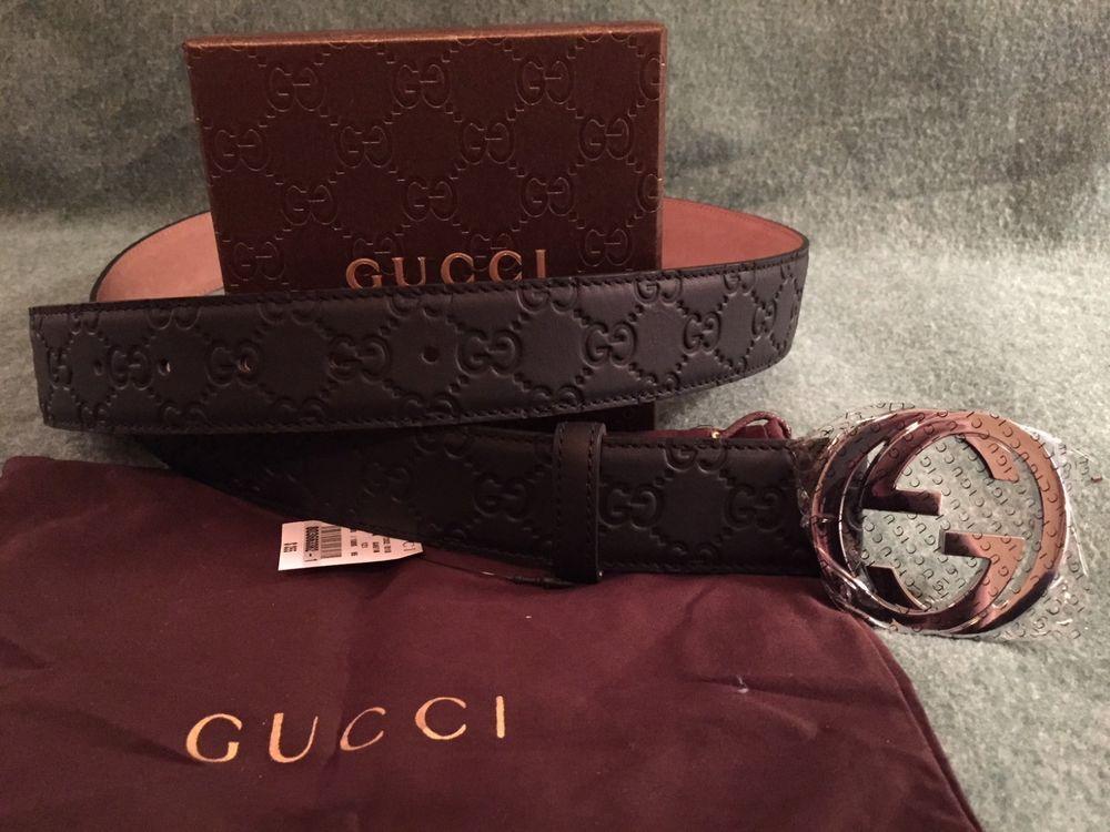 7c04db7cc New w/ Tags Authentic Black Guccissima Gucci Belt 90 cm fits 30-32 waist  #fashion #clothing #shoes #accessories #mensaccessories #belts (ebay link)