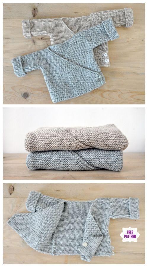 Photo of Einfach Baby Kimono Strickjacke kostenlose Muster stricken   – Baby stricken – #…