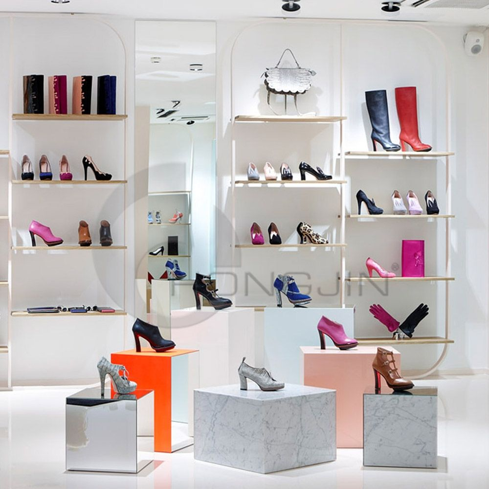 Superior Interior Display Rack Design for Ladies Shoe