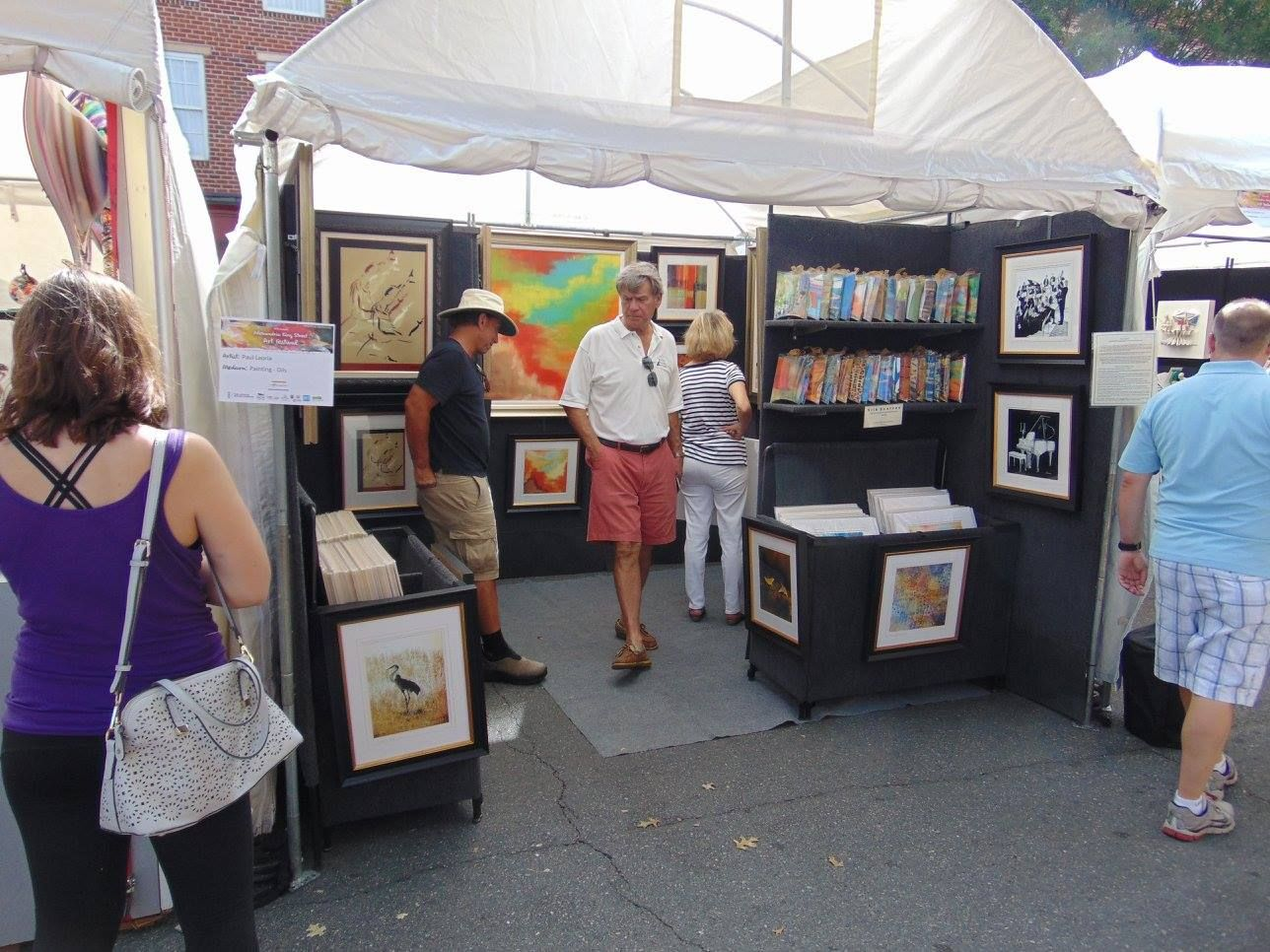 Paul Laoria Art Show Booths Booth Display