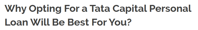 Why Opting For A Tata Capital Personal Loan Will Be Best For You In 2020 Personal Loans Loan About Me Blog