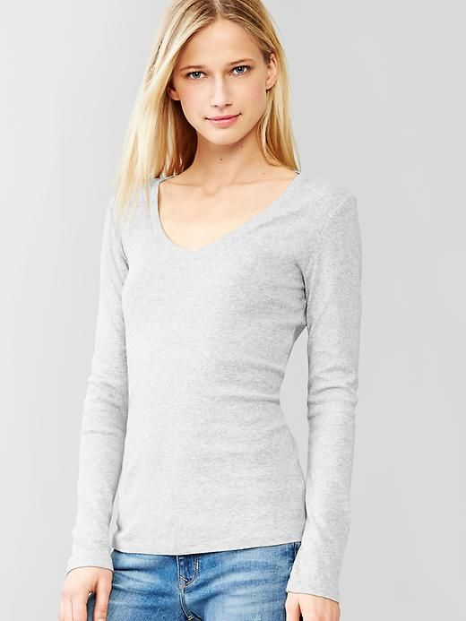 cbda2fb08f979 Favorite long-sleeve V-neck tee - Exclusively online. Simple. Classic.  Comfortably hugs the body for the ultimate layering solution.