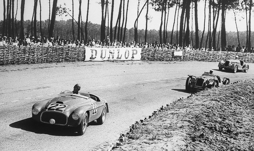 Ferrari 166 MM (1949) Ferrari's first entry at the first post-war running of the 24 Hours also provided its first win. In 1949, the pretty little V12 overcame bigger-engined pre-war opposition, with Luigi Chinetti driving for 22 hours alongside entrant Lord Selsdon. Post-war technology had arrived.