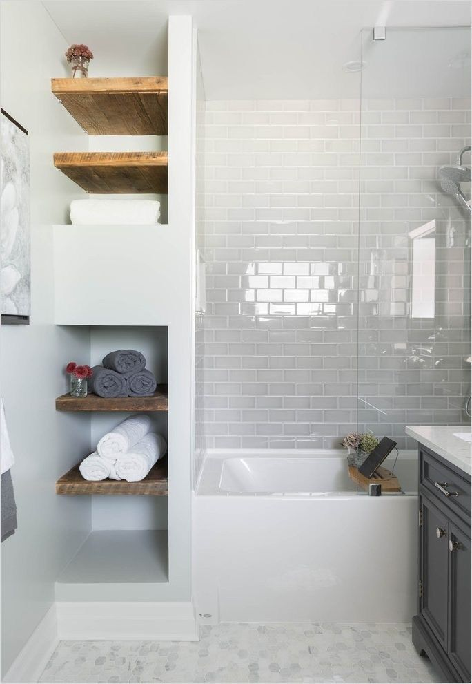 43 Creative Bathroom Shelves Decorating Ideas   Bathroom ...