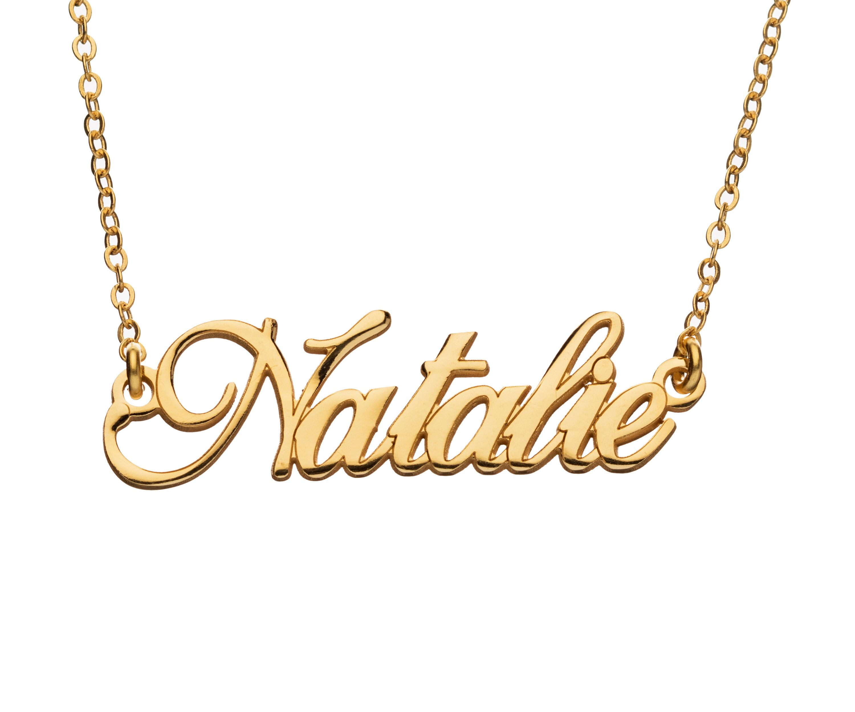 Custom Made Any Name Style 5 10k Yellow Gold Personalized Name Necklace