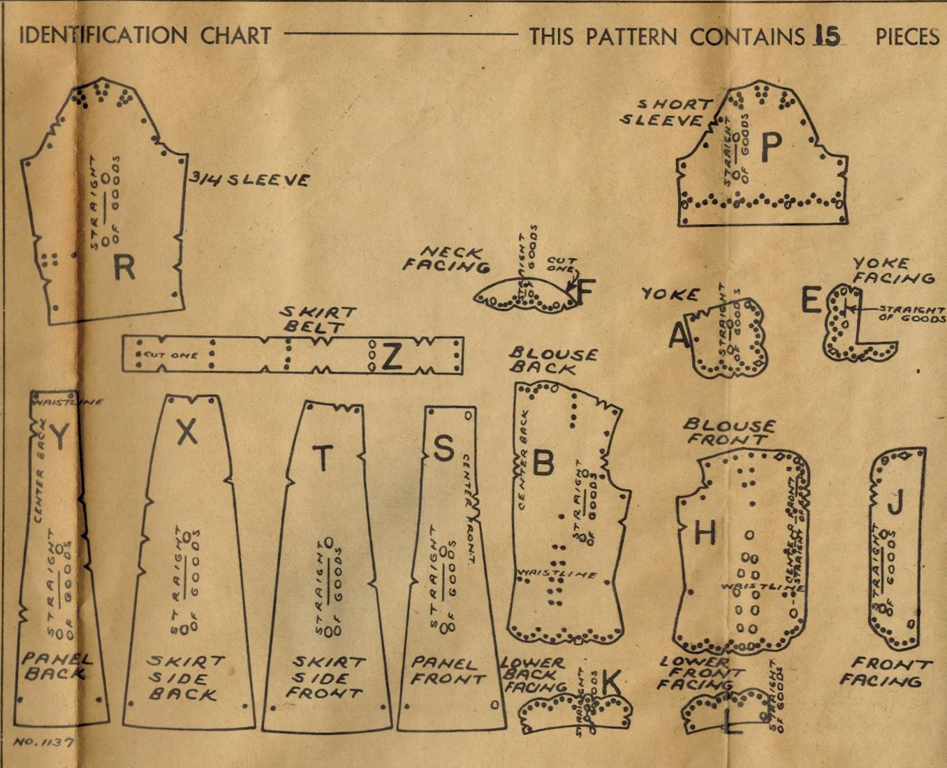 The Midvale Cottage Post: History of Sewing - De-Mystifying Unprinted Patterns