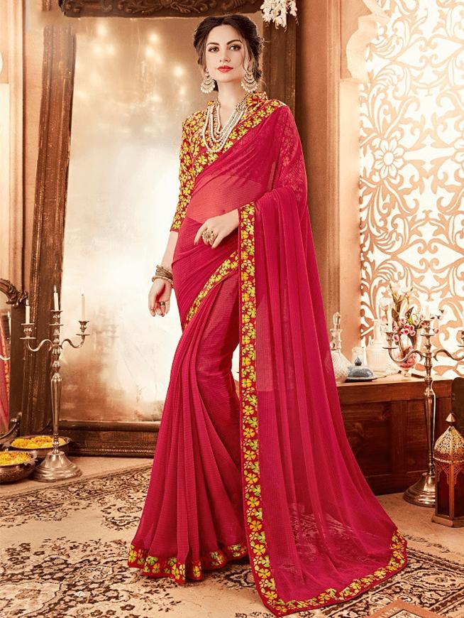 84571e8038 Fabric :Georgette Blouse :Banglori Silk #georgette saree,#georgette #fabric  online,georgette ki saree,#bollywood #designer,georgette #saree new #2019,  Saree ...