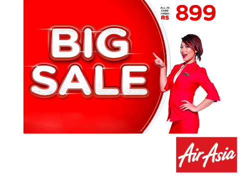 Air Asia Sale Domestic Flight Fares Starting at Rs. 899