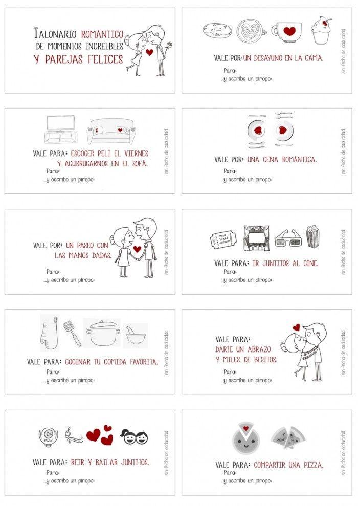 Plantilla Cupones De Amor Vales Para Imprimir Personalizados