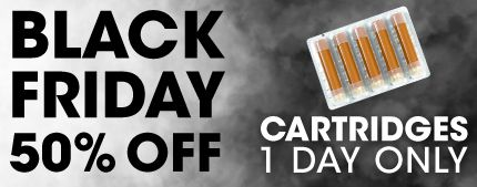 Black Friday Offer - e-cig cartridges 50% off http://besteliquiduk.co.uk/black-friday-e-liquid-e-cig-sale-massive-discounts/