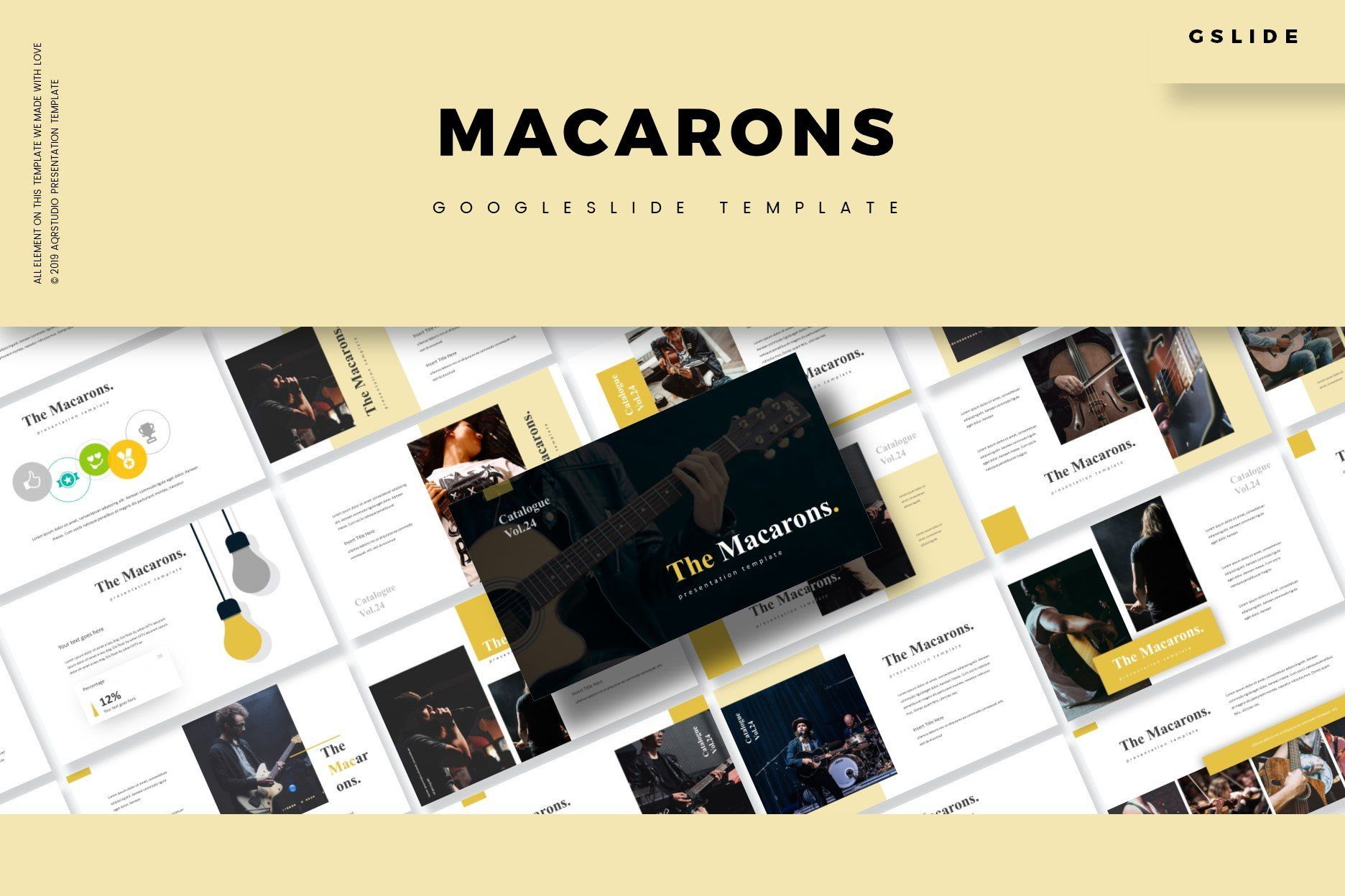 The Macarons Google Slides Template Google Slides Template Google Slides Templates