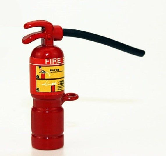 Red Fire Extinguisher 1:12 Scale Dollhouse Miniature