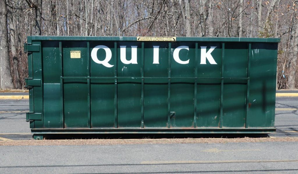 10 Yard Dumpster Rental With A 1 5 Ton Max Used To Dispose Of Household Junk From Clean Out Job In Windham New Hampshire Dumpster Rental Windham Household