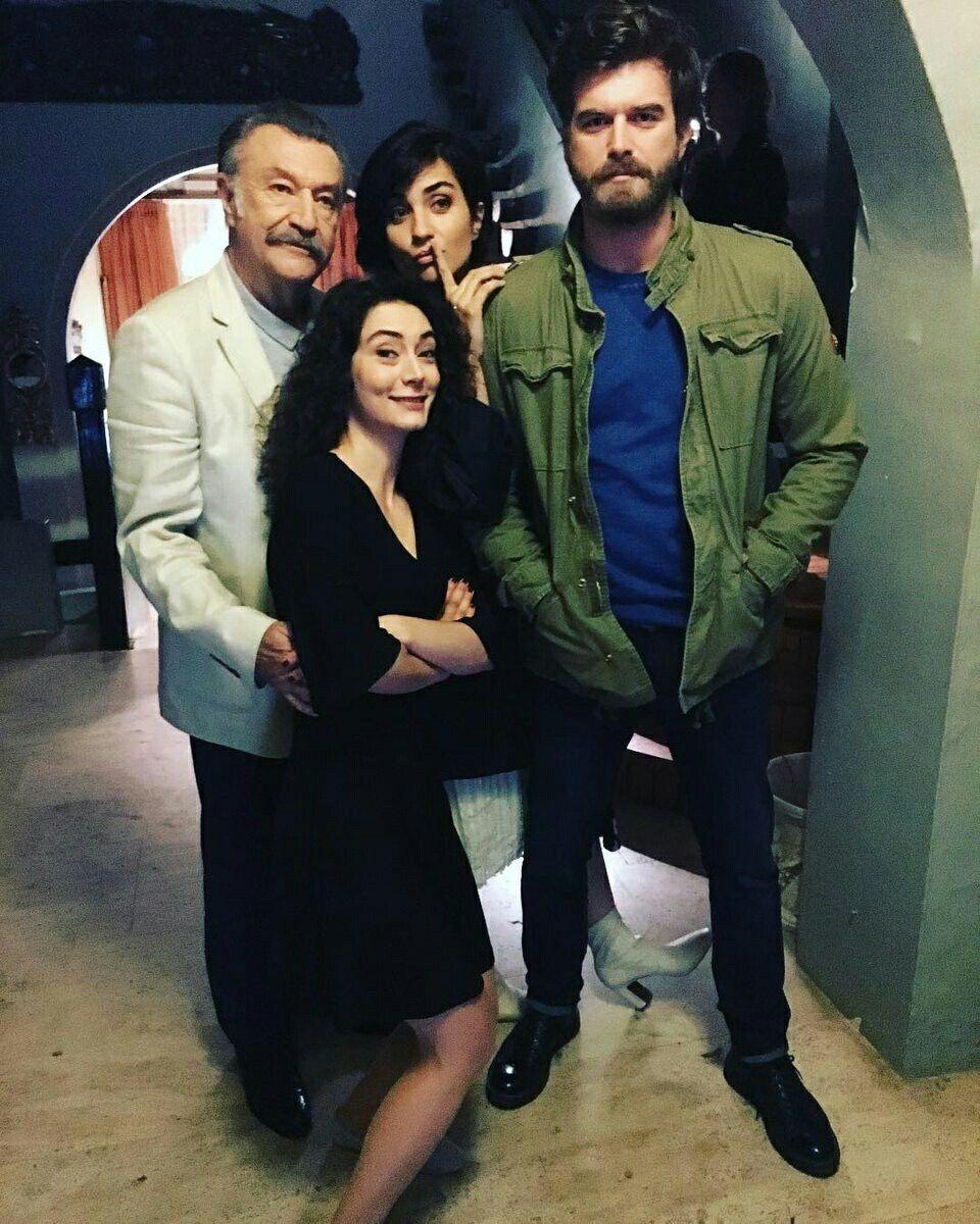 Kivanc Tatlitug With Cast Members Of Cesur Ve Guzel A Turkish Tv