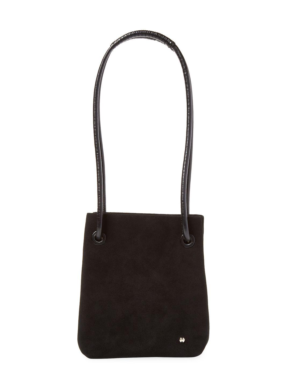 b7965299000b HALSTON HERITAGE ALI FLAT DRAWSTRING BUCKET BAG.  halstonheritage  bags  shoulder  bags  hand bags  leather  bucket  metallic