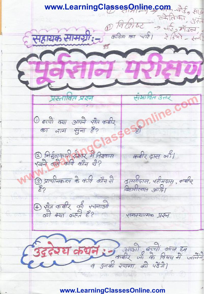 Hindi Lesson Plan Class 6 In 2021 Lesson Plan In Hindi How To Plan Lesson [ 1155 x 802 Pixel ]