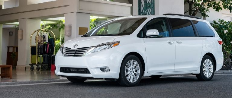 Photo of a Toyota Sienna minivan, one of the most reliable car models according to Consumer Reports.