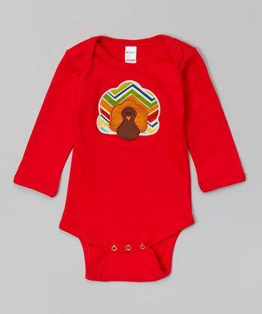 Look what I found on #zulily! Red Turkey Bodysuit - Infant by Petunia Petals #zulilyfinds