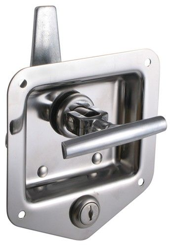 T Handle Locking Stainless Steel Flush Door Latch Redline Enclosed