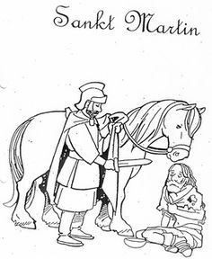 Saint Martin coloring page