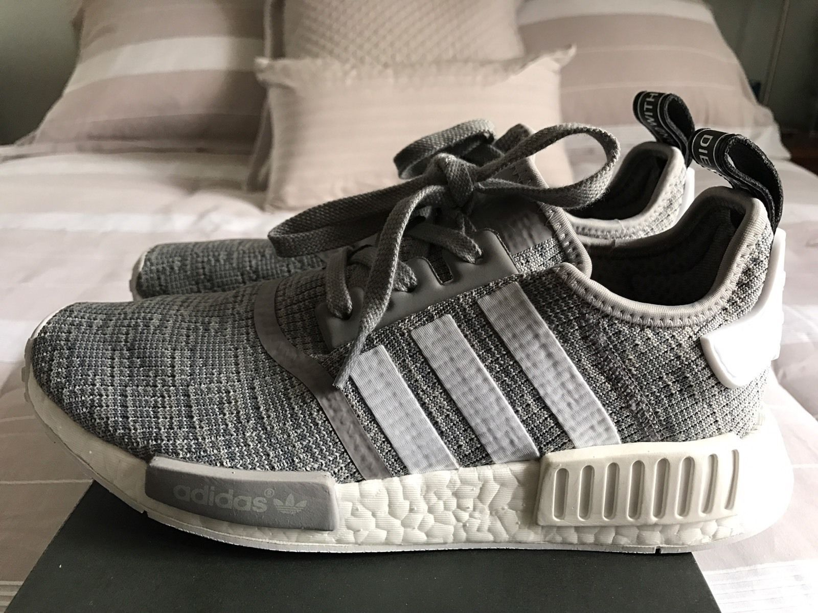 outlet store e2efe d3207 Adidas NMD R1 Glitch Solid Grey Camo Size 8.5 Purchased a half size too  small for me. So I cannot use these. They are brand new with box ...