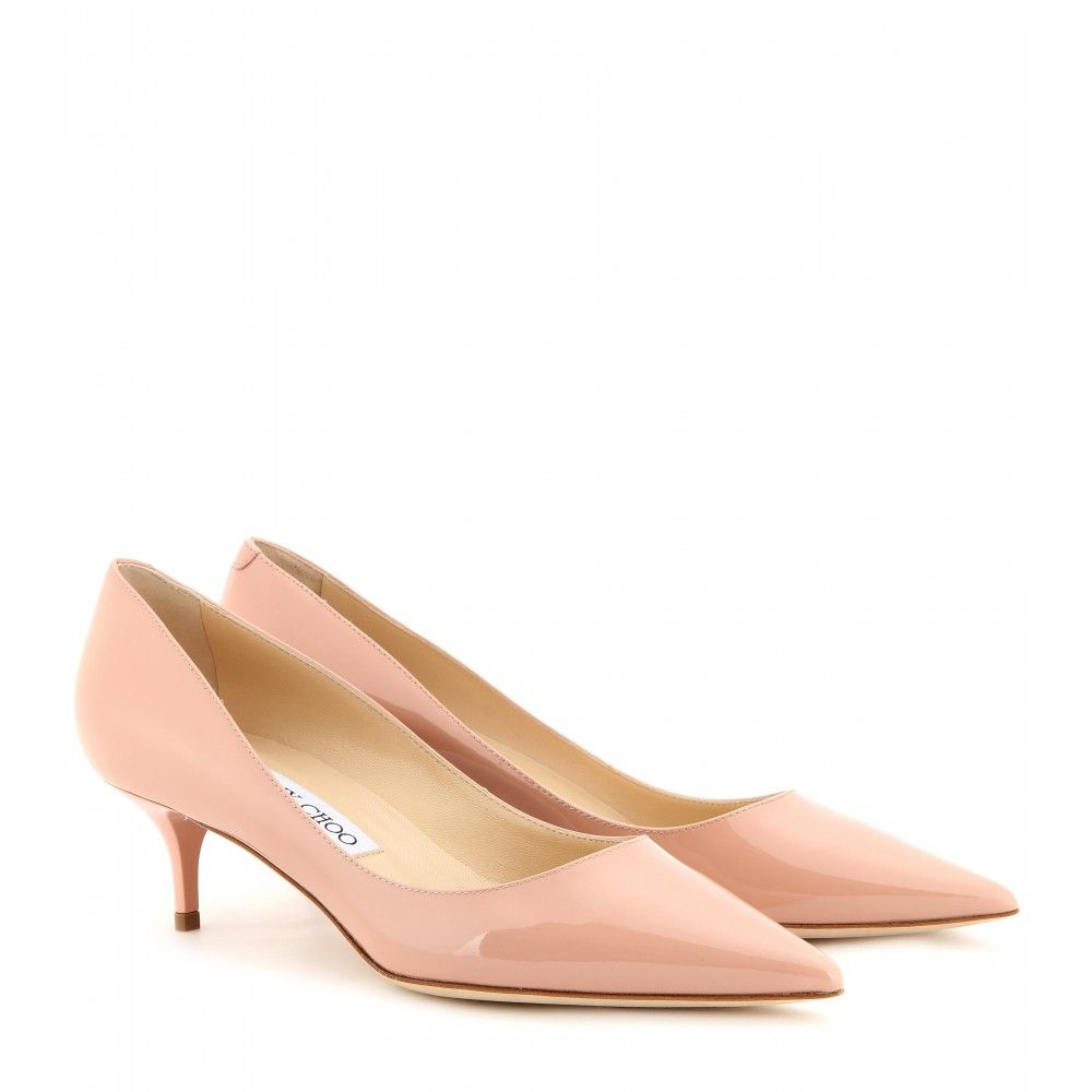 Shoes for light pink dress  Jimmy Choo  Aza patent leather pumps  Jimmy Choo elevates the