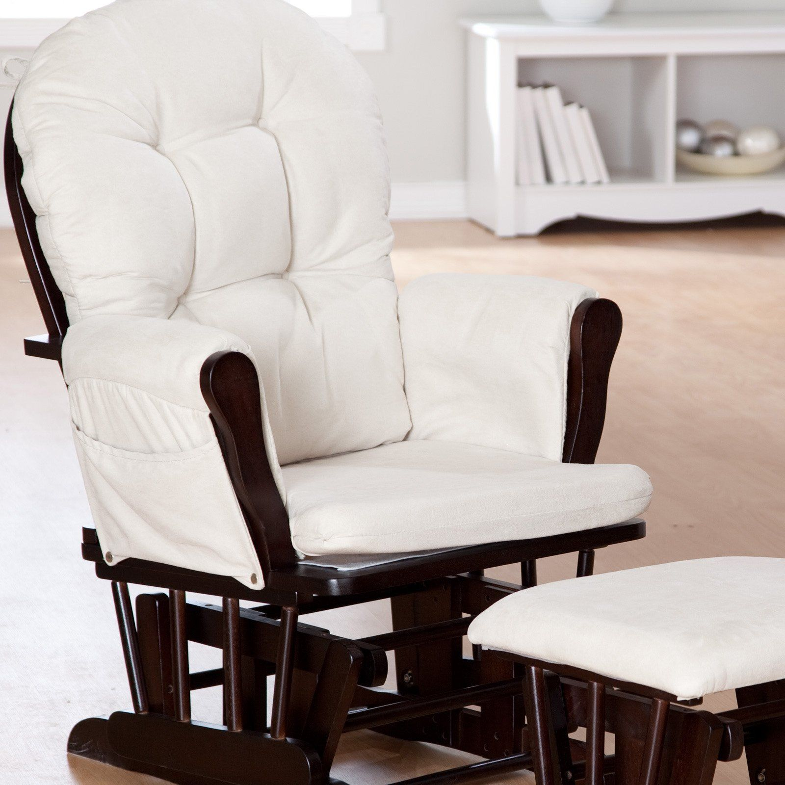 Have to have it. Storkcraft Bowback Glider and Ottoman Set