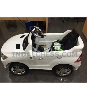 Coche Ninos Mercedes Blanco Ml350 2 Motores 6v Rc Coche Para