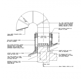 Gooseneck Exhaust Duct Cad Detail Mechanical Cad Blocks