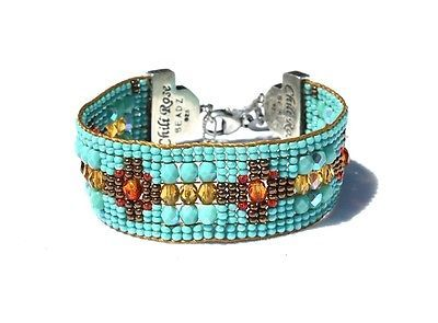 Chili-Rose-Magnificent-Turquoise-Sunset-Colored-Beaded-Gemtip-Bracelet